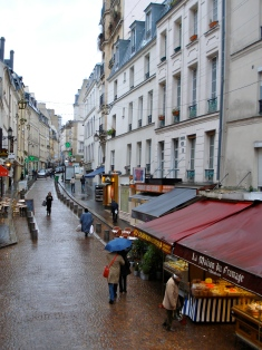 Rue Mouffetard in the rain
