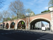 The Promenade is on top of these arches.